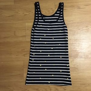 ONLY WORN ONCE Navy and white striped tank
